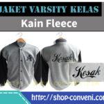 Jaket Varsity Kelas - Kain Fleece