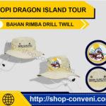 Topi Island Tour - Bahan Rimba Drill Twill